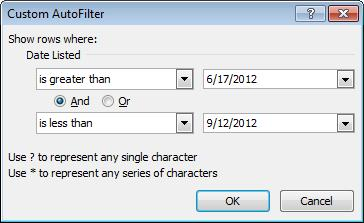 Filters) to see additional filter options Click Custom