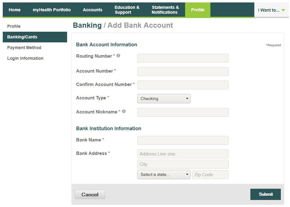 Order Checks (optional fees may apply) From the Profile screen and the Banking/Cards tab, click Order Checks. Complete the check order and click the Order Checks link at the bottom of the page.