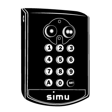 WIRELESS ACCESSORIES Simu Radio Remote Control Kits - All In One Designer Series Simu Hz Digital Keypad 8880-SWIT-00-XX Receiver Surface Mount (RC200) Single Channel PC!