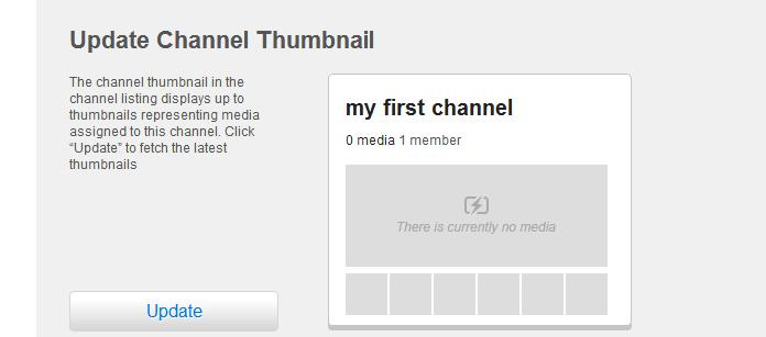 Creating and Managing a Channel T update a channel thumbnail Open a channel page that yu manage, and then click Settings.