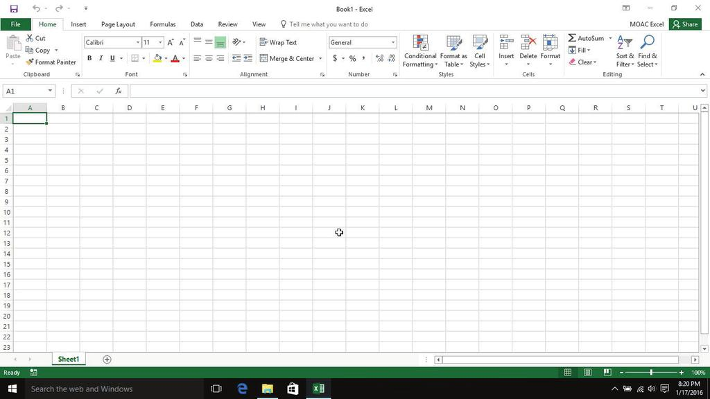 Overview 1 LESSON SKILL MATRIX Skills Exam Objective Objective Number Starting Excel Create a workbook. 1.1.1 Working in the Excel Window Customize the Quick Access Toolbar. 1.4.