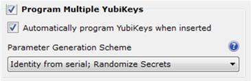 By default, each YubiKey is configured for the YubiCloud in slot 1. If you plan to use your YubiKeys with additional services other than Okta, then you may want to configure slot 2 for Otka.