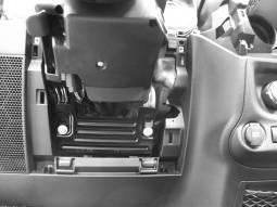 the steering column indicated by the arrow in Fig.