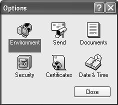 Double click on the Security icon. 4. The Security Options dialog box and select the Proxy Access tab.