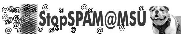 Controlling SPAM MSU s SPAM control system, StopSPAM, is a flexible web based application that allows you to manage SPAM. It is important to understand that no SPAM solution is perfect.