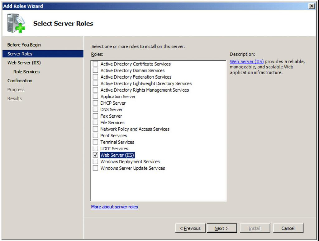 Chapter 3 1 In the Administrative Tools window, open Server Manager. 2 Select the Roles folder, and click Add Role Services.