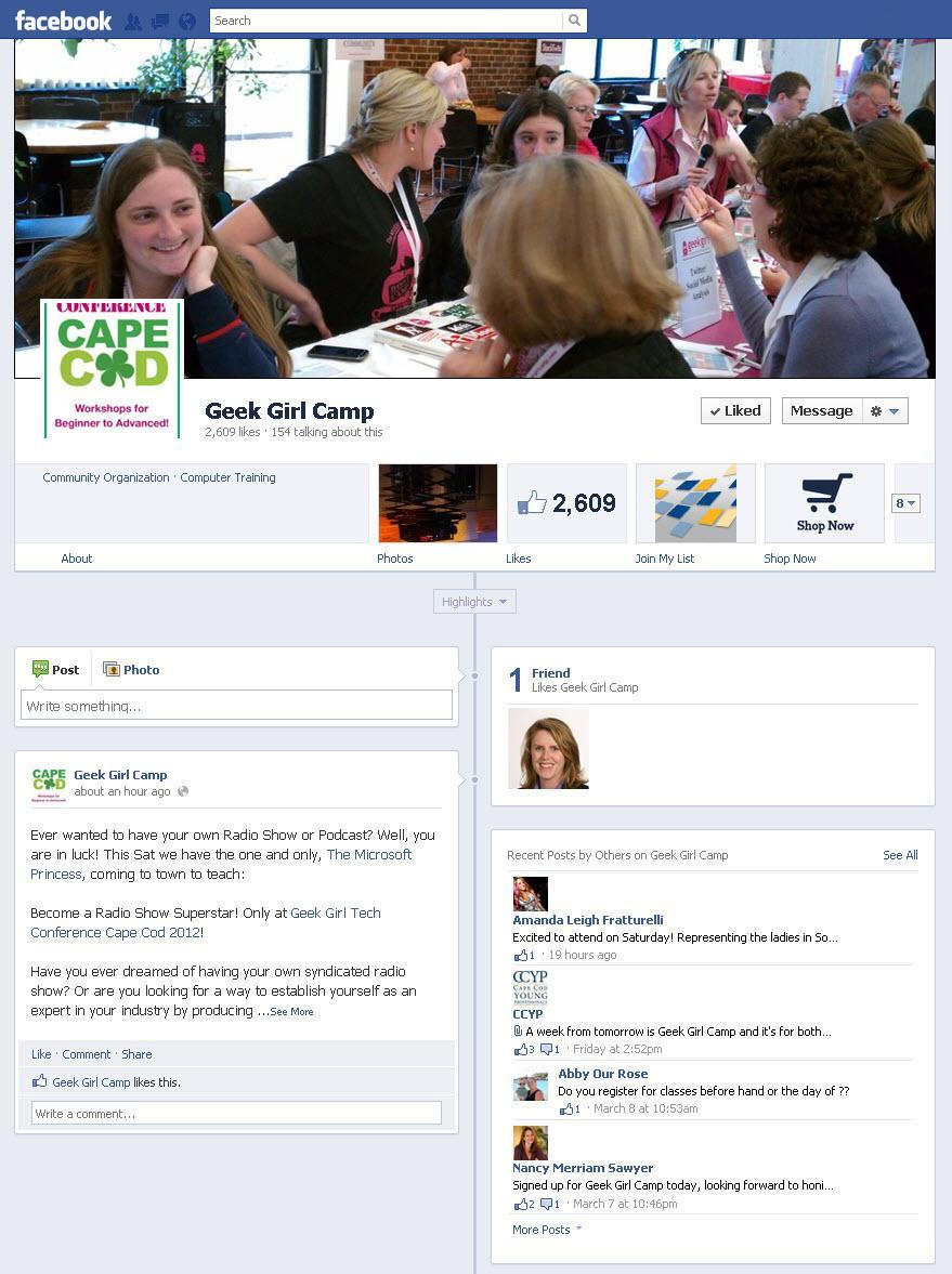Basic Anatomy of a Facebook Business Page Cover photo & profile picture