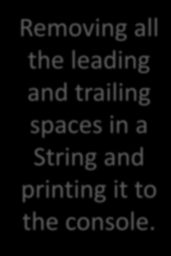 spaces in a String