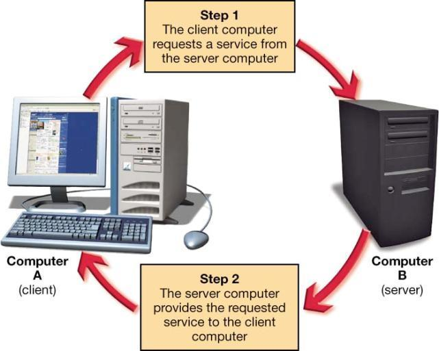 Client/Server Networks Client computers Users who make requests Server computers Provide