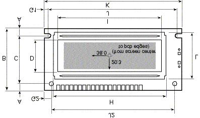 Page 23 of 28 Line plot (ESC L or ESC T) 6 ms Transfer a screen to EEPROM (ESC X) 100 ms Mechanical Specifications A y offset edge to hole center (top & bottom) 4.00 B y pcb height 36.