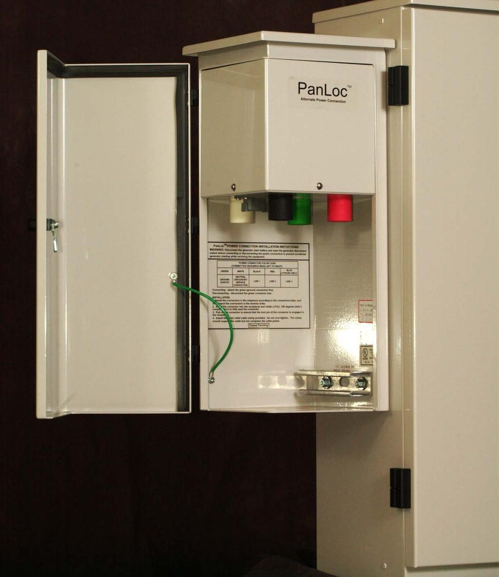 PanLoc alternate power connection PanLoc was developed to eliminate compatibility issues between alternate Power Source and Load Distribution.