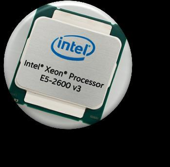 TFlops peak performance* Intel XEON E5 2600 The most popular processors on earth, largest