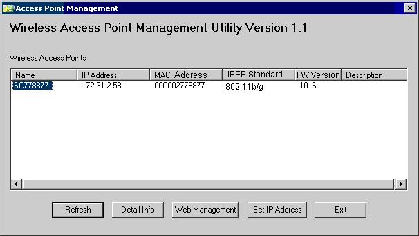 Chapter 3 Access Point Setup 3 Overview This Chapter provides details of the Setup process for Basic Operation of your Wireless Access Point.