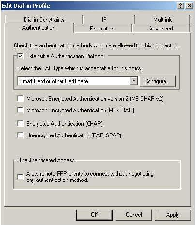 PC and Server Configuration Figure 41: Authentication Screen 12.
