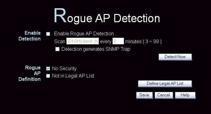 "Access Point Management Rogue APs A ""Rouge AP"" is an Access Point which should not be in use, and so can be considered to be providing unauthorized access to your LAN."