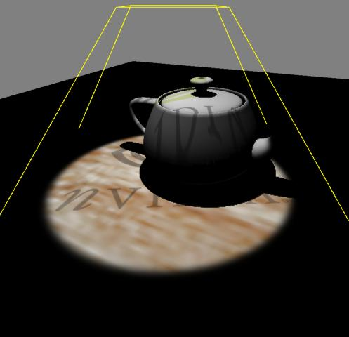 Projective texturing with