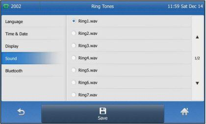 Ring Tones Ring tones are used to indicate incoming calls. You can select different ring tones to distinguish your phone from your neighbour s. To select a ring tone for your phone: 1.