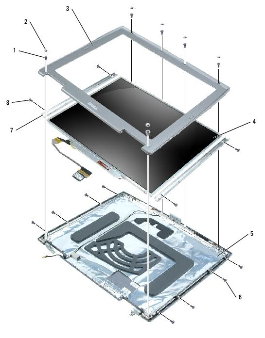 Display Assembly and Display Latch: Dell Latitude D505 Service Manual file:///i
