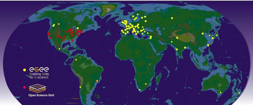 WLCG sites World Wide LHC Computing Grid 200 sites: from 100 to 100 000 cores Different countries, institutions, batch