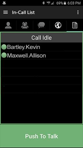 Alert Calls can be initiated from the Contact List or the Map
