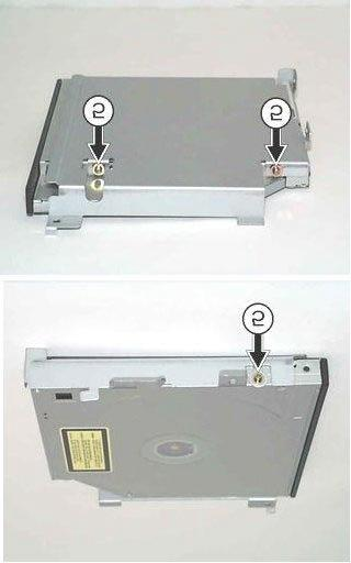 pictures below, and remove the CD-ROM or DVD-ROM unit