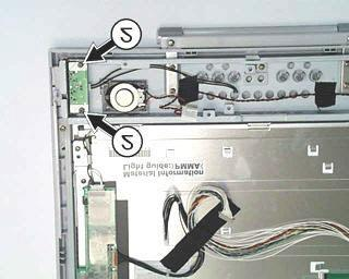 Removing the brightness control board G7DAJ PCBA Remove the two screws marked by the
