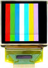 Monochrome OLED: WEH128128B This display is thin,