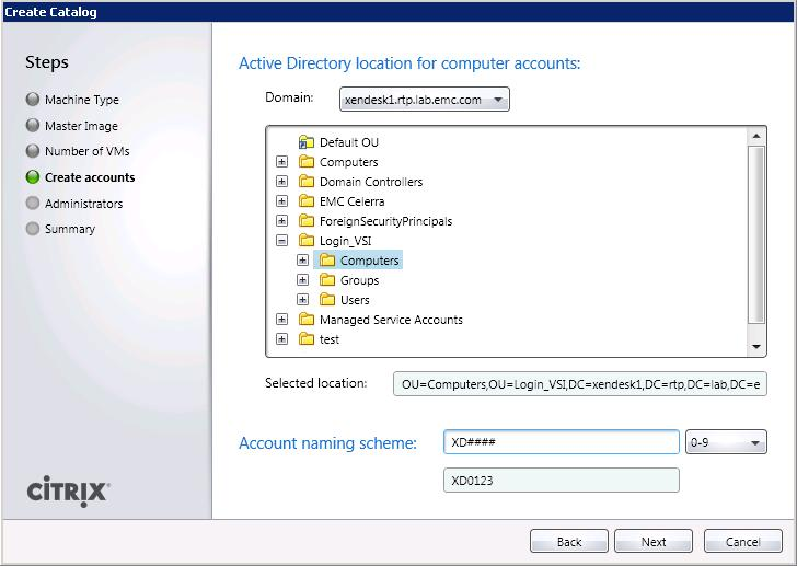Chapter 6: Installation and Configuration Figure 19. Active directory location and naming scheme 10. Click Next.