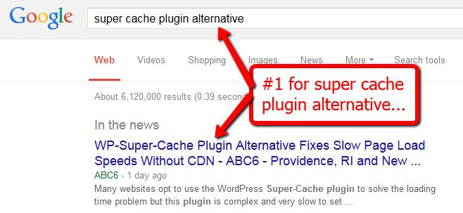 Get Overnight Rankings With The Google Hijack Method 6 Wordpress Super Cache Plugin Alternative Here's another product in the highly competitive Wordpress niche.