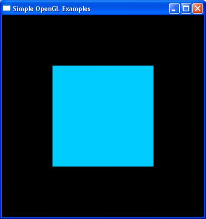 Code Example OpenGL Code: glcolor3d(0.0, 0.8, 1.0); glbegin(gl_polygon); glvertex2d(-0.