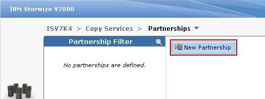 7. Click New Partnership to create a new partnership, as shown in
