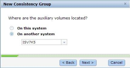 4. Select On another system, to specify the location of the