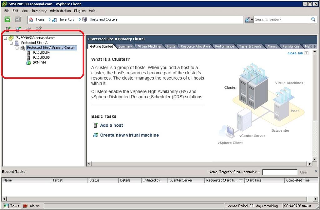 For more information about configuring vsphere HA, refer to the vsphere Availability Guide at: http://pubs.vmware.