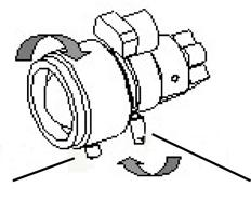 Turn the focus ring to set the desired focus. 6. Tighten the focus ring thumbscrew.