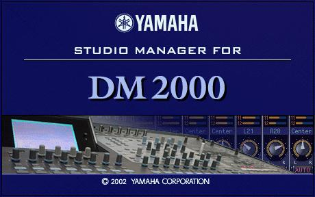 13 Chapter 1 Getting Started Starting Studio Manager For Windows, click the Start button and select Programs, YAMAHA Studio Manager, DM2000, Studio Manager for DM2000.
