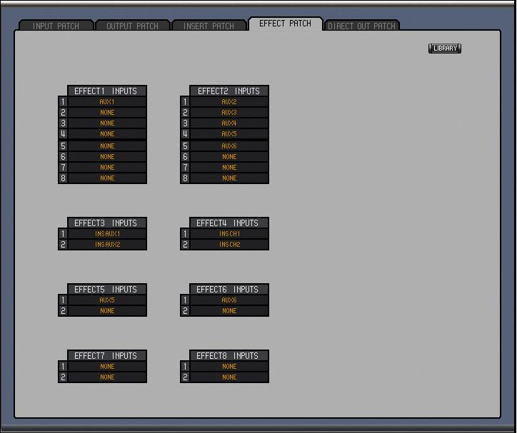 33 Chapter 4 Patch Editor Window Effect Patch Page 2 1 3 4 A Effects Patch page tab This tab is used to select the Effect Patch page.