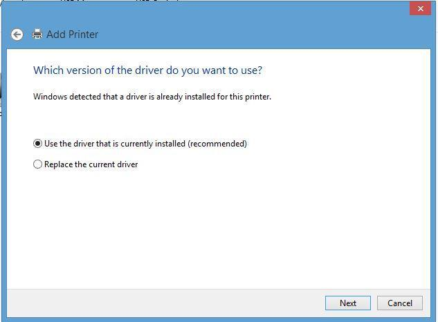 16. When the version driver menu comes up click on the Next button. 17.