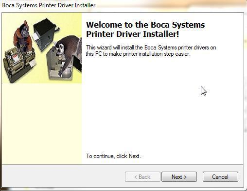 When the installer has finished putting the necessary driver files on your system, the below menu box will be