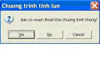 "If Truonghop = vbyes Then Sách Lập trình Excel bằng VBA MsgBox ""Ban vua chon nut Yes."", vbinformation ElseIf Truonghop = vbno Then MsgBox ""Ban vua chon nut No."