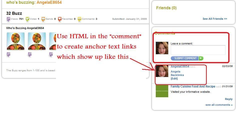 HTML to create your anchor text links.
