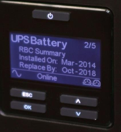 {Notes 1) Replace Battery indication is still THE Indicator when the battery needs to be replaced. The replace battery date is a projection for service maintenance.