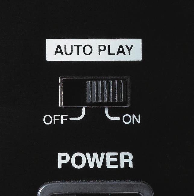 AUTO PLAY: Automatic playback on Power ON The Auto Play feature enabled the CDR-01 to automatically play any audio program stored in the SD CARD,