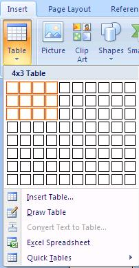Tables Creating and formatting tables has been made very easy.