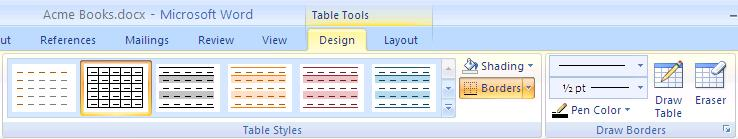 2. Select the desired number of rows and columns.