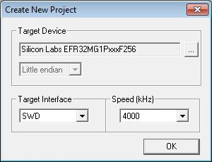 to select the desired firmware file; Select Target Connect;