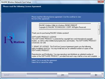 Figure 3-10 Setup: License Agreement (Vista) - The driver will