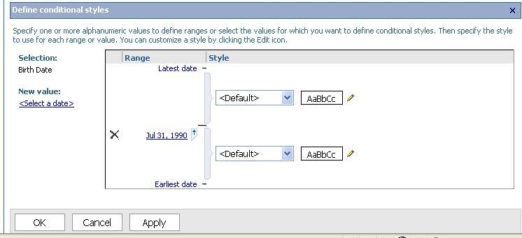 If a second date is needed in the range, click the Select a date option again and repeat the process.