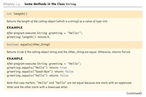 Classes, Objects, and Methods Classes, Objects, and Methods A class is the name for a type whose values are objects Objects are entities that store data and take actions Objects of the String class