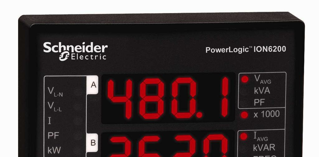 PowerLogic ION6200 power and energy meter Cost-effective, compact and versatile meter with LED display,
