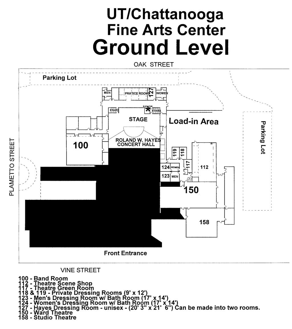 Roland W Hayes Concert Hall Technical Specifications Pdf 01v96 Block Diagram Fine Arts Center Ground Floor Utc